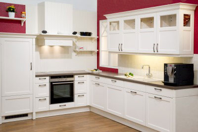 Charming White Kitchen Cabinets