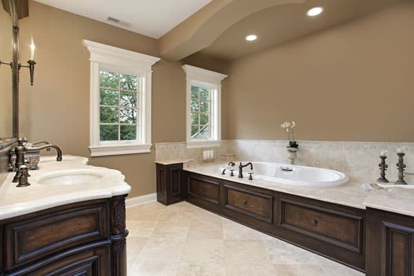 Modern interior bathrooms paint colors for Brown interior paint colors