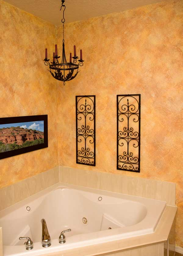 Bathroom paint finish ideas images for Bathroom designs paint
