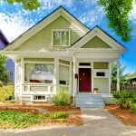 Minneapolis Exterior Painting Cute Green Home