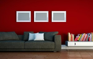 red wall white accents