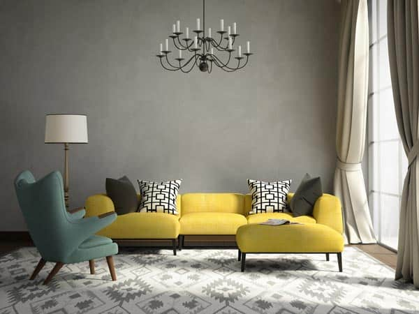 Green Living Room Grey