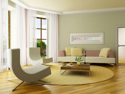 Light Green Living Room