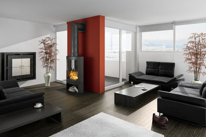 Modern-Living-Room-With-Orange-Accent