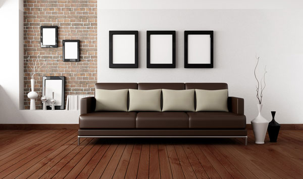 White-Room-With-Brick-Accent