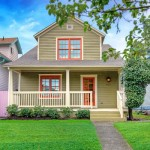 Minneapolis Exterior Painting Tan House With Red Accent