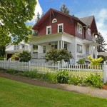 Minneapolis Exterior Painting White and Red House
