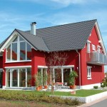 Red exterior with white trim