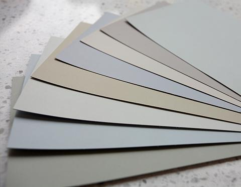 Gray Paint Chip Palette